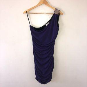 Purple one shoulder dress size M